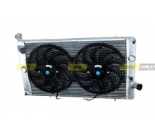 Pack radiator Aluminum PEUGEOT 309 GTI and 2 fans dishes