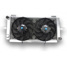 Radiator Aluminum and fans, dishes, FORD ESCORT SIERRA COSWORTH RS 500