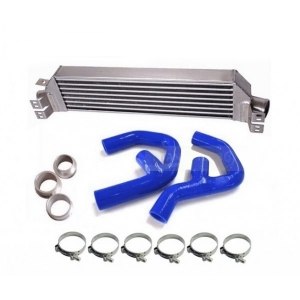 Heat exchanger, aluminum high volume+radiator hoses silicone for VW Golf 5 GTI