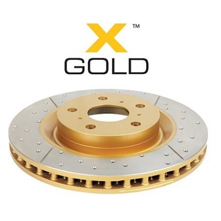 Disque arrière DBA X gold pour HONDA S2000 AP1 99-09