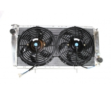 Kit radiator aluminum high volume RENAULT 4L and fans, dishes