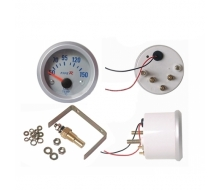 Pressure gauge water temperature 52mm + probe
